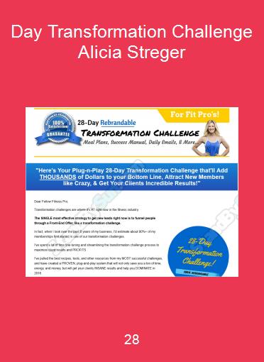 28-Day Transformation Challenge - Alicia Streger