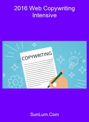 2016 Web Copywriting Intensive
