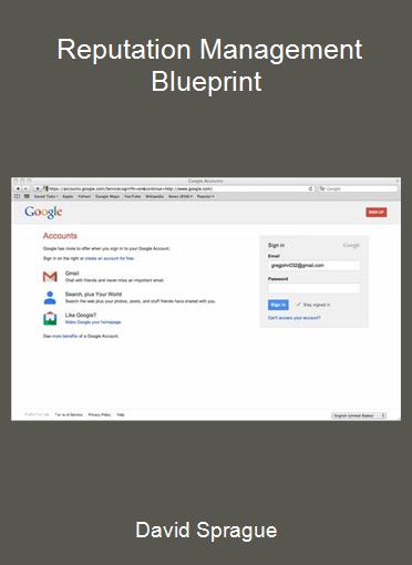 David Sprague - Reputation Management Blueprint