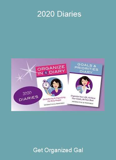 Get Organized Gal - 2020 Diaries
