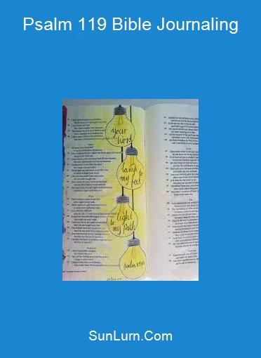 Psalm 119 Bible Journaling