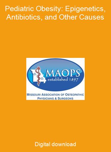 Pediatric Obesity: Epigenetics, Antibiotics, and Other Causes