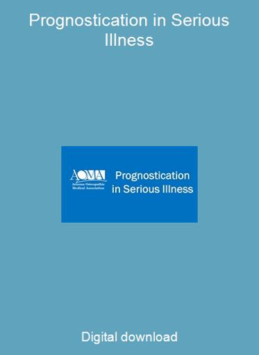 Prognostication in Serious Illness
