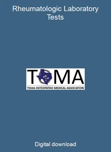 Rheumatologic Laboratory Tests