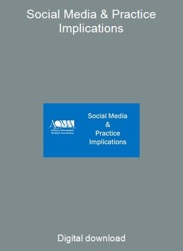 Social Media & Practice Implications