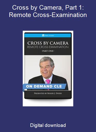 Cross by Camera, Part 1: Remote Cross-Examination