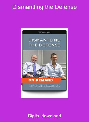 Dismantling the Defense