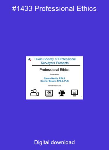 #1433 Professional Ethics