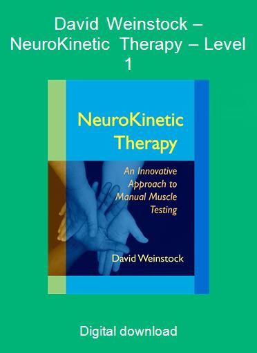 David Weinstock – NeuroKinetic Therapy – Level 1
